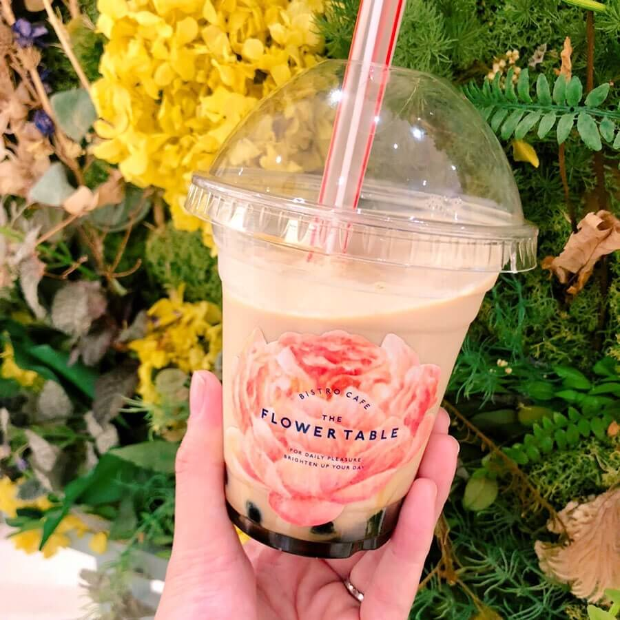 珍珠 Bubble tea 愛知県 名古屋 栄 The Flower Table タピオカ 人気 オシャレ カワイイ_2