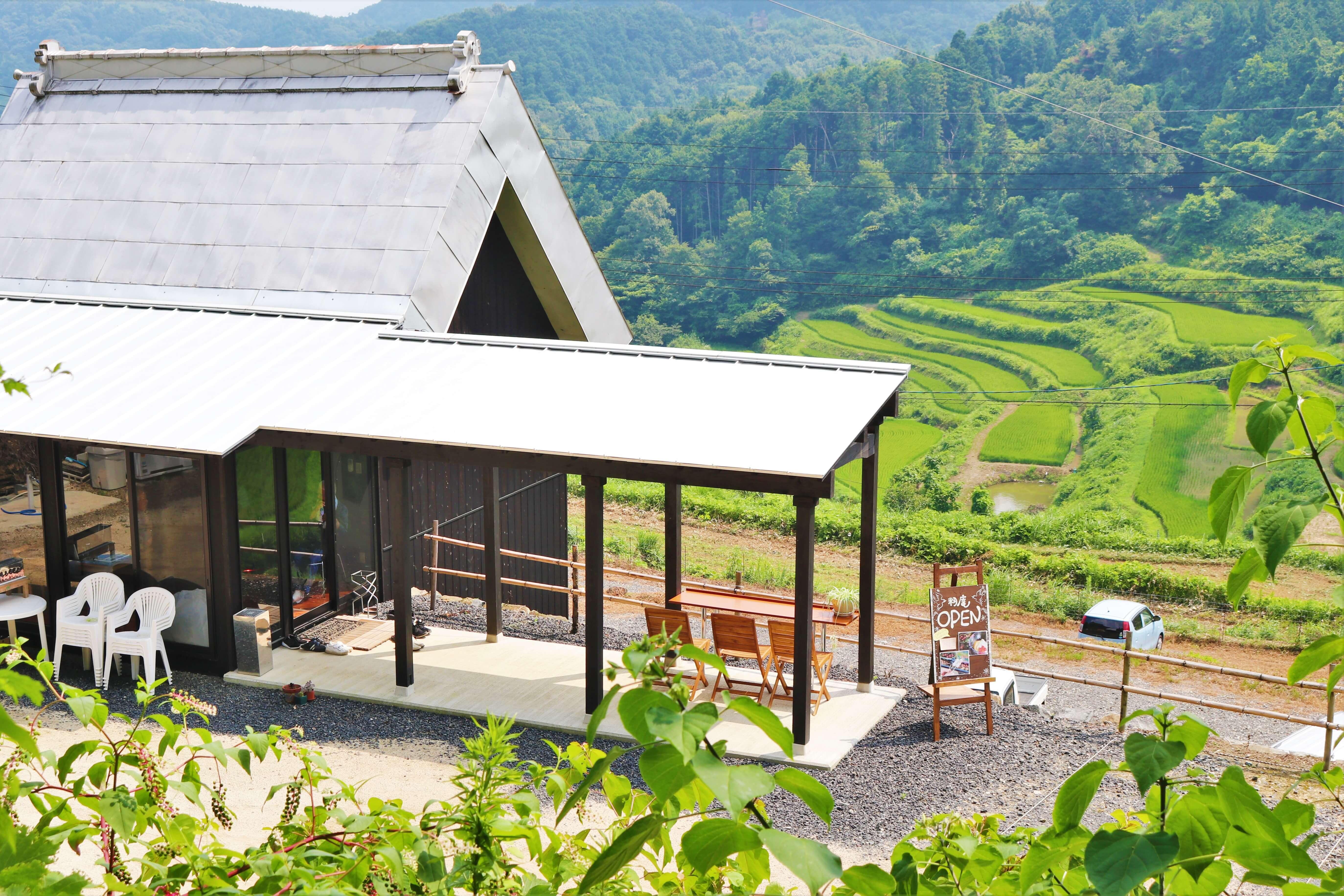 岡山県 上籾棚田 かみもみたなだ kamimomi tanada Okayama カフェ cafe
