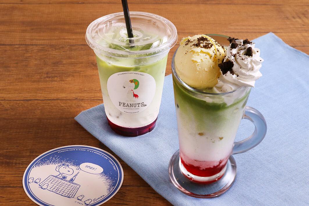 フライング・エース グリーンティーラテ flying ace green tea latte sub7main PEANUTS Cafe ピーナッツカフェ PEANUTS DINER ピーナッツダイナー 変装シリーズフェア フライングエースフェア flying ace fair