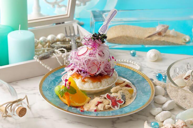 リトル・マーメイド コラボカフェ Little Mermaid collaborate cafe 浜辺のクリームリゾット