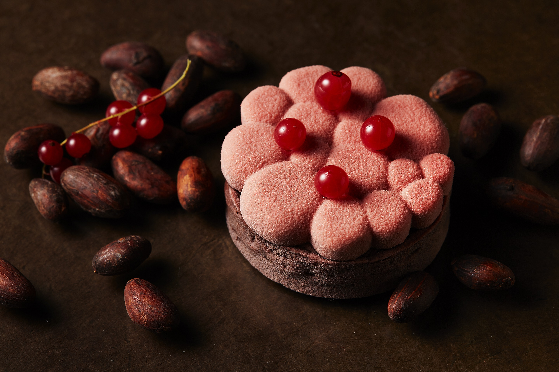 ルビーチョコレートと洋梨のタルト_650円
