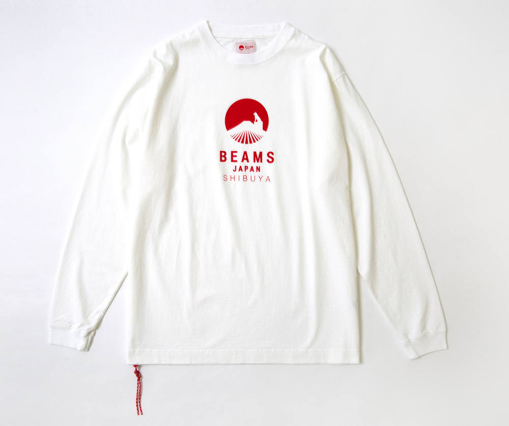 BEAMS JAPAN ハチ公ロゴ ロングTシャツ.