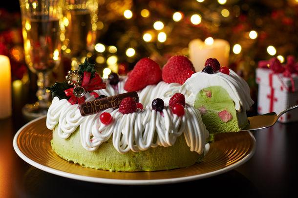 いちご抹茶アイスケーキ・プレミアム Strawberry Matcha Ice Cream Cake Premium