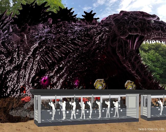 Godzilla ニジゲンノモリ「ゴジラ迎撃作戦」2020年 夏 淡路島 Awajishima Nijigennomori_シューティング全体