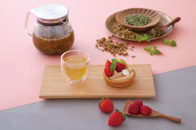 ペパーミントブレンド茎茶 × 旬のフルーツタルト