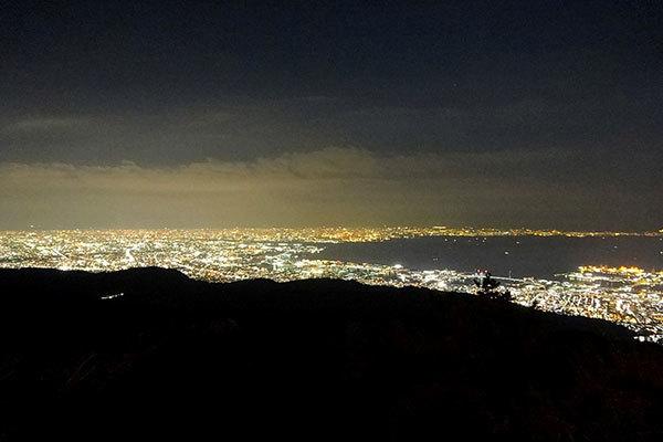 六甲ガーデンテラスからの夜景 Night view from the garden terrace