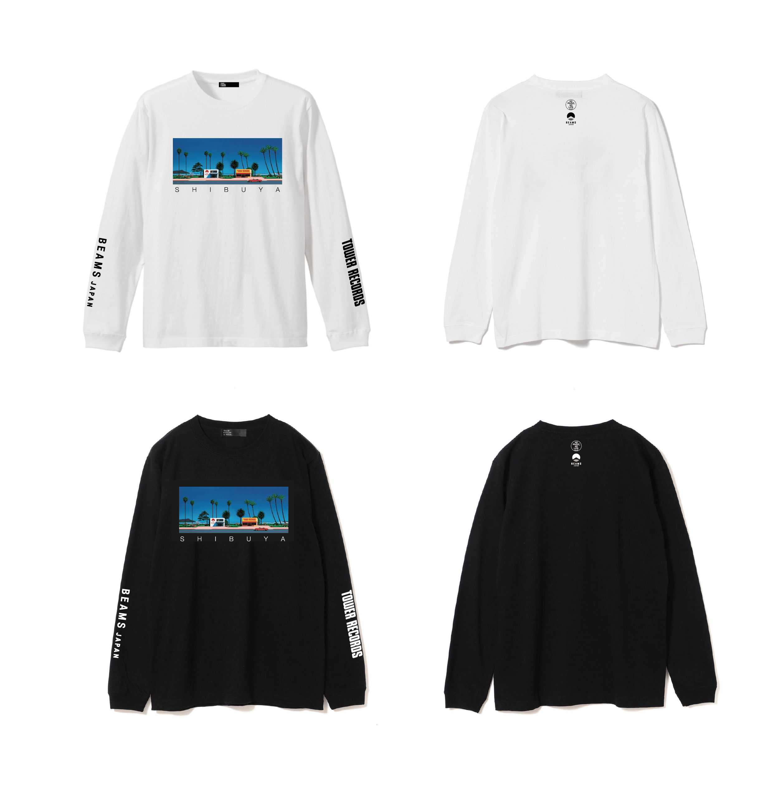 BEAMS JAPAN SHIBUYA×TOWER RECORDS Tシャツ T-Shirts