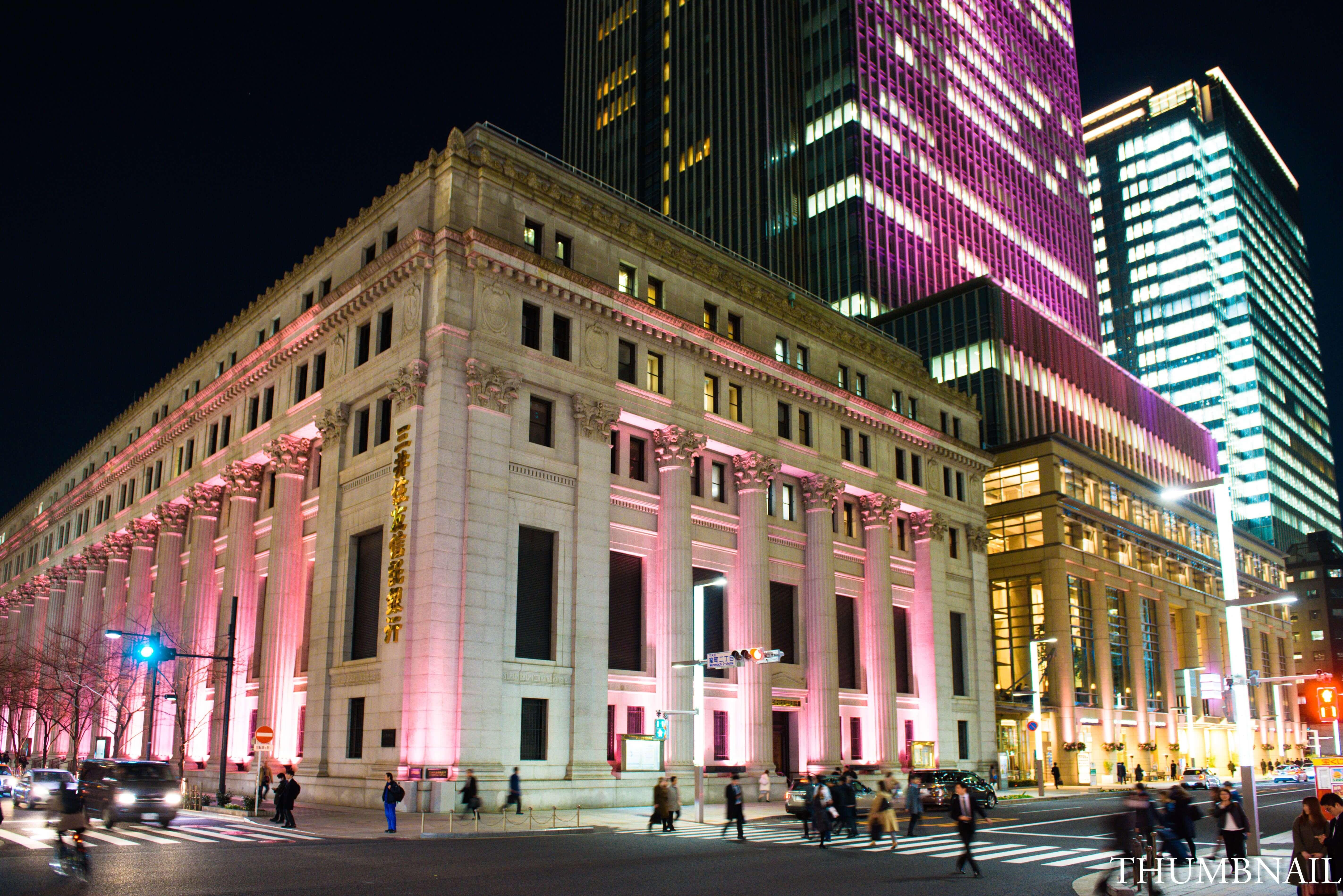 SAKURA FES NIHONBASHI_OFF TO MEET 日本橋 桜 フェス_Sakura Light Up_三井本館+三井タワー(過去写真)