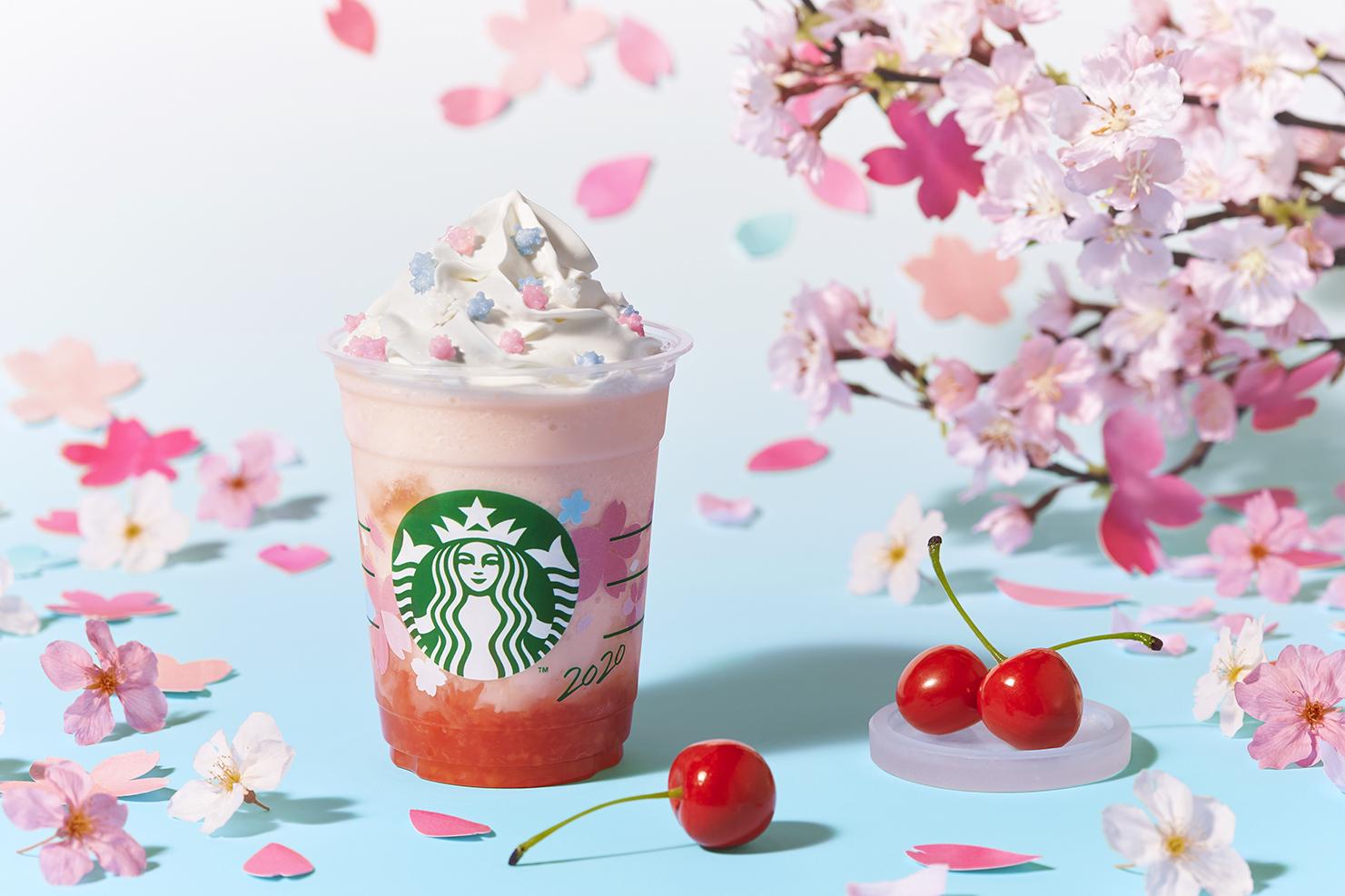 さくら さくらんぼ フラぺチーノSakura Cherry Frappuccino_樱花星冰樂