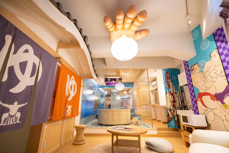 moshi moshi nippon MOSHI MOSHI ROOMS Harajuku 原宿 DSUKOI どすこい 銭湯 Bath Sumo 相撲__全景
