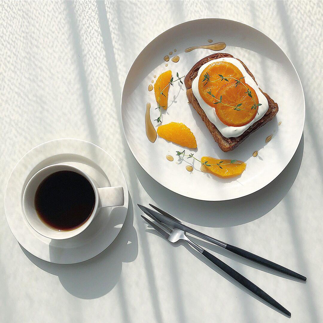 トーストアレンジ おうち時間 おうちカフェ Stayhome homecooking recipe レシピ_オレンジトースト