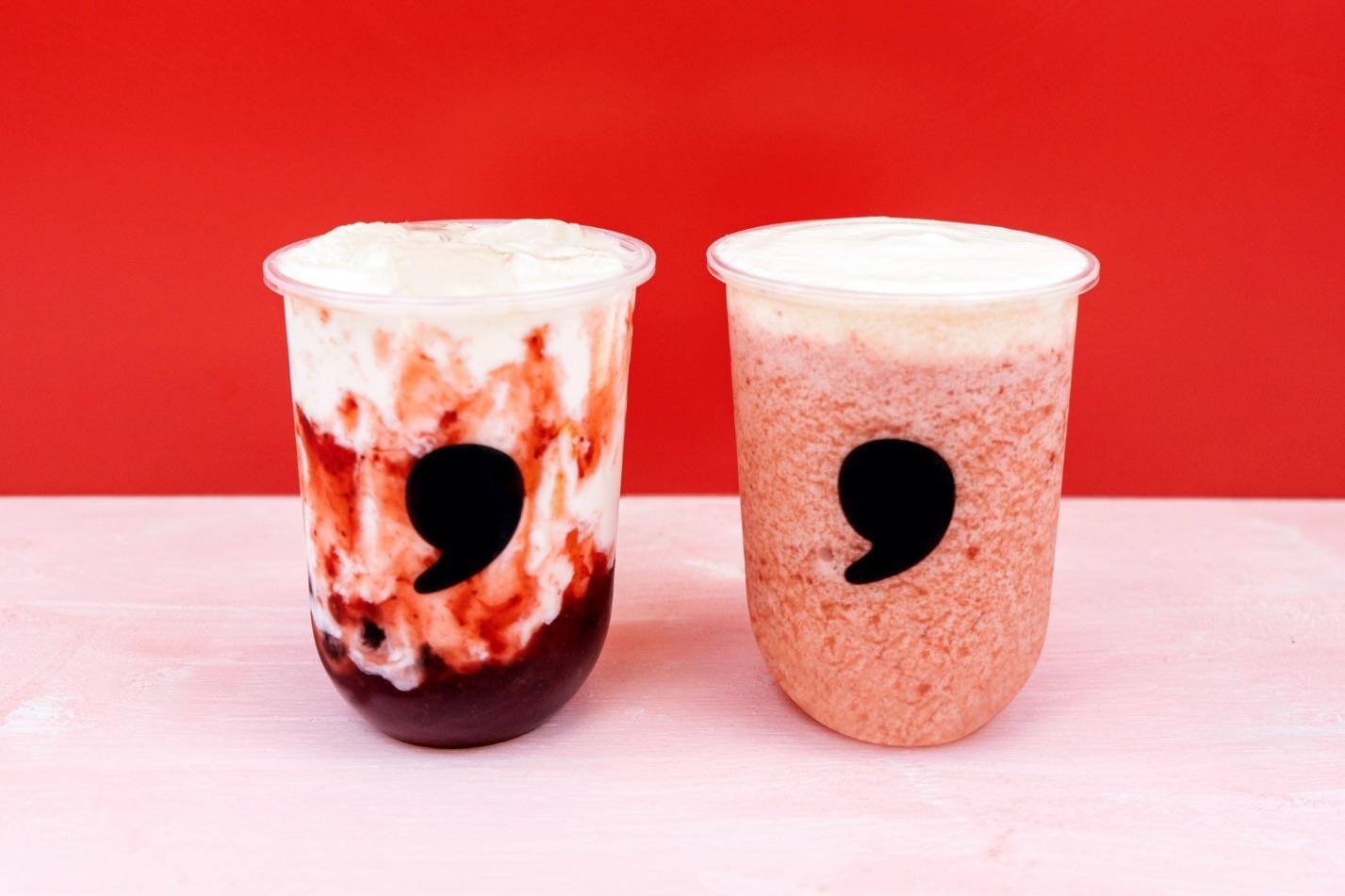 コンマティーベリーストロベリーシリーズ comma tea strawberry series 草莓茶