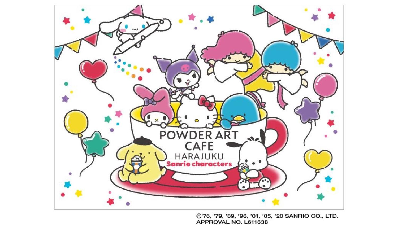 サンリオキャラクターとのコラボカフェ-POWDER-ART-CAFE-Sanrio-Cafe-三麗鷗原宿咖啡廳