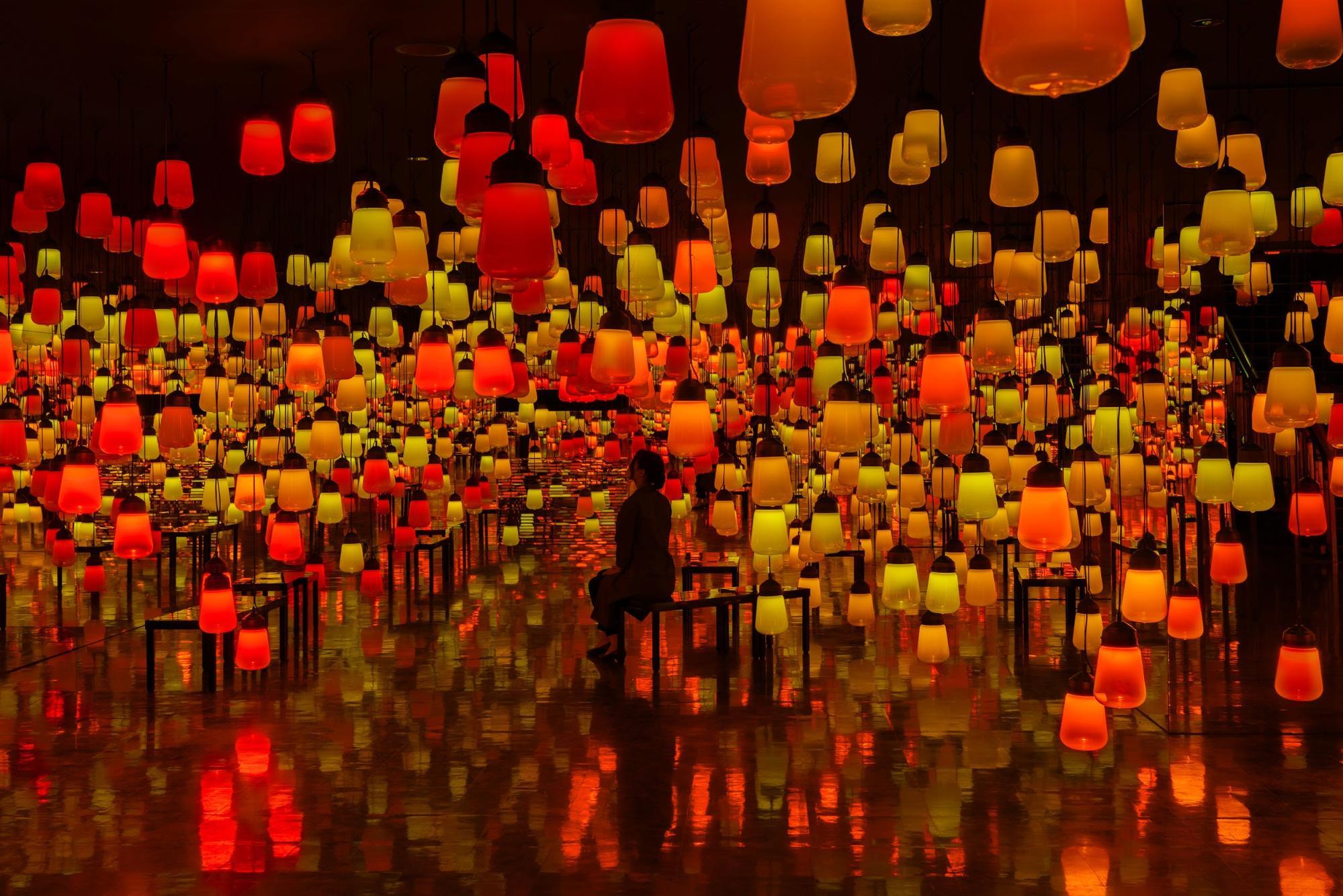 御船山楽園 チームラボ 秋アート展 teamLab autumn art exhibiiton teamLab 秋節 展示