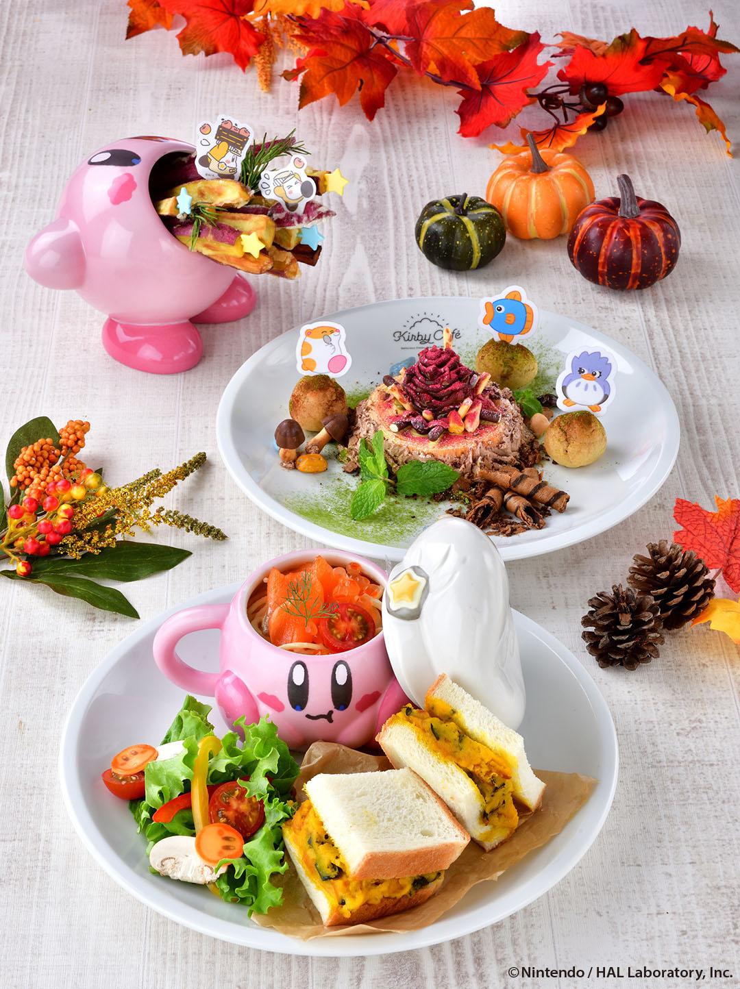 星のカービィ 秋の限定メニュー星之卡比咖啡廳 Kirby Cafe