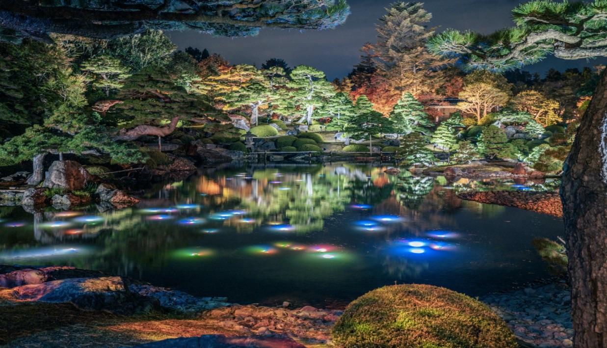 由志園-イルミネーション-Illumination-Shimane-光雕投影