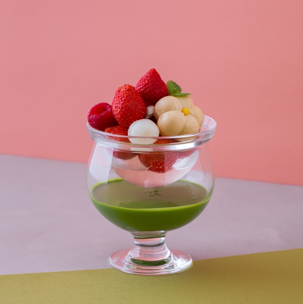 抹茶に恋した いちご3姉妹 matcha sweets 抹茶 甜點3