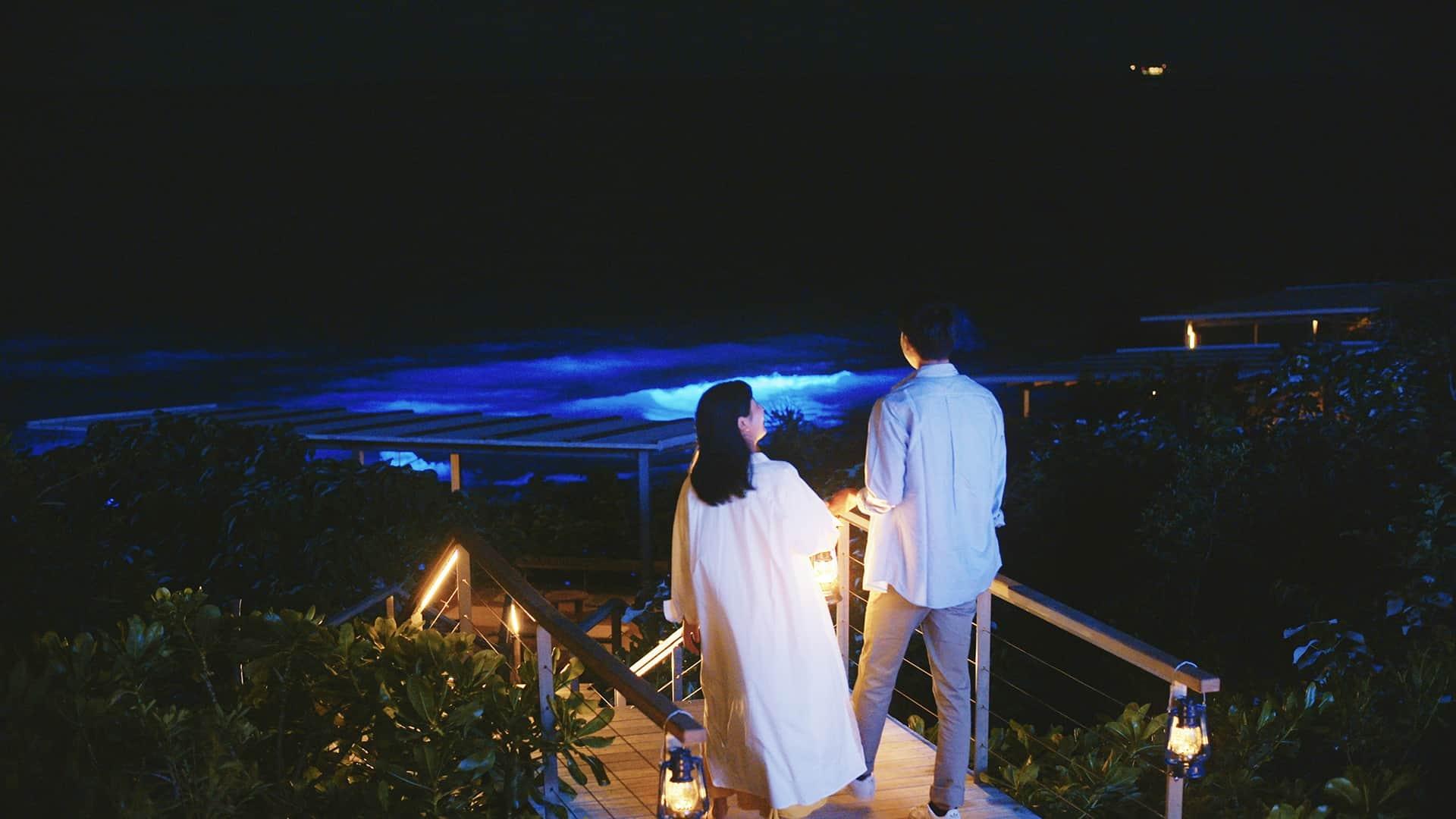 バンタカフェ イルミネーション 沖縄 Okinawa illumination 光雕投影