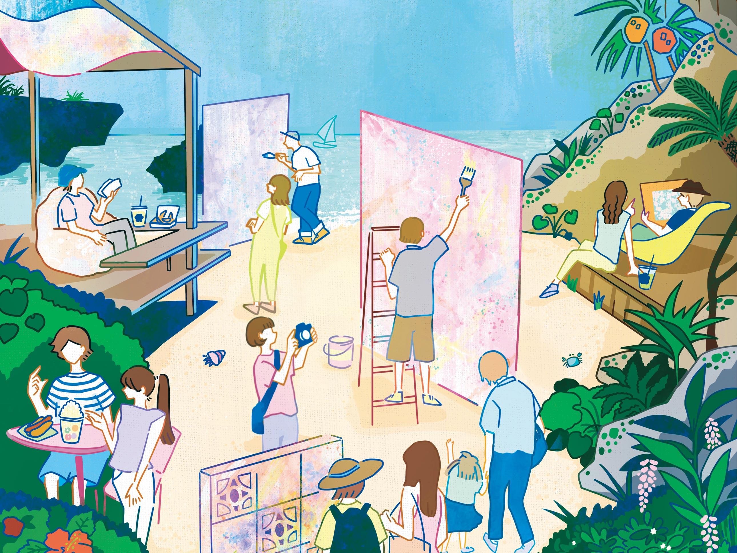 星野リゾート バンタカフェ「海辺のアートフェスティバル」 Hoshino Resorts 星野渡假村 (1)