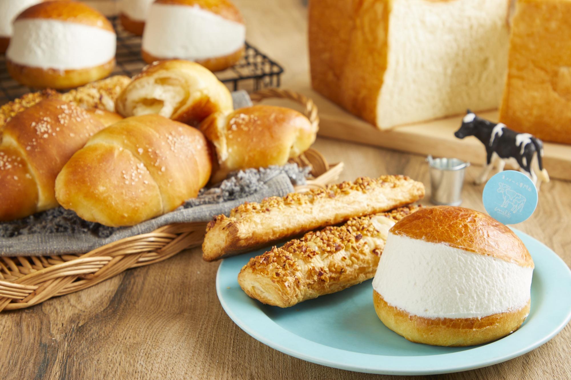 【人気ベーカリーのブーランジェ】 × 【ミルク パティシエ】がコラボレーションし、『ミルクの生クリーム食パン』 や 『究極の生クリームパン』を開発 (2)