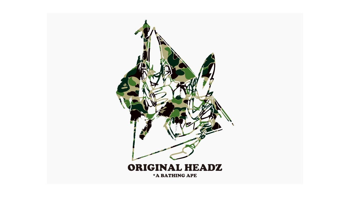 "A BATHING APE® VS UNKLEMO WAX "" Original Heads """