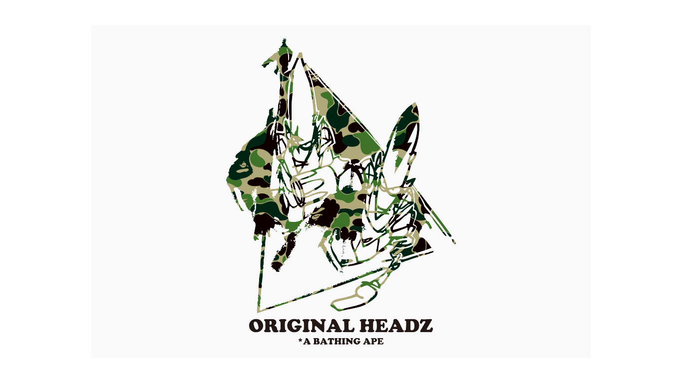 "A BATHING APE® VS UNKLEMO WAX "" Original Heads """