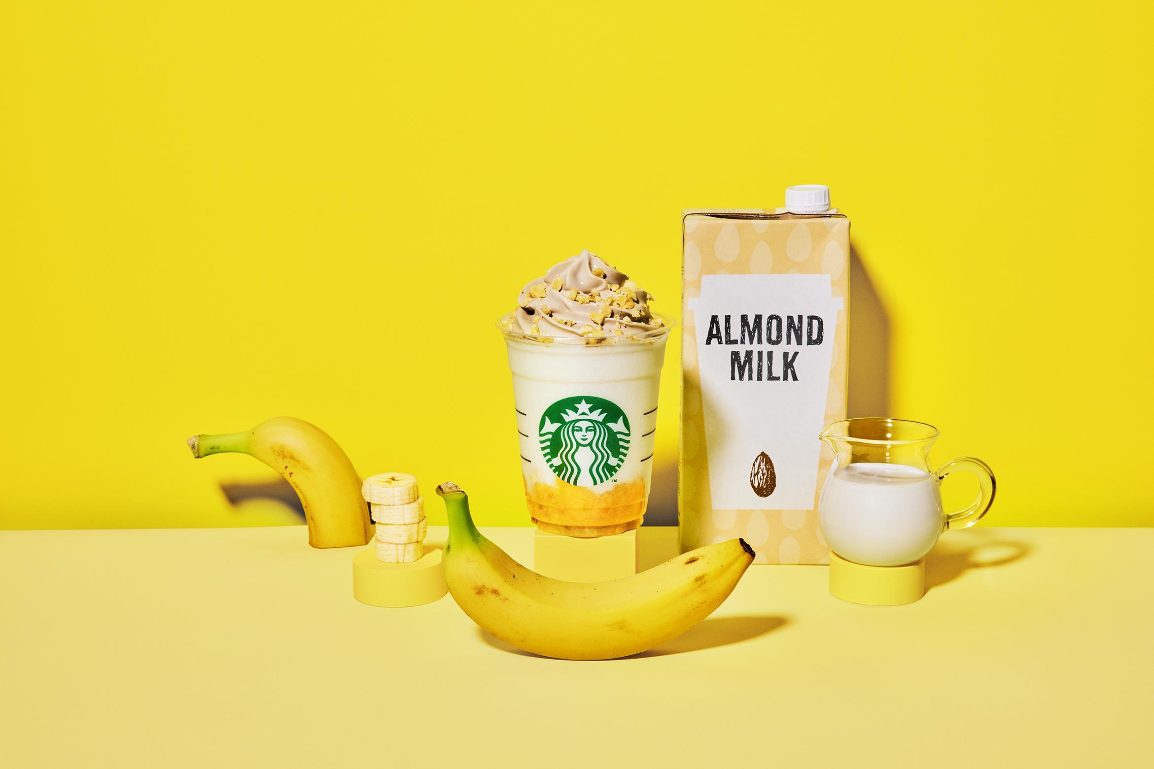 バナナンアーモンドミルク フラペチーノ®︎
