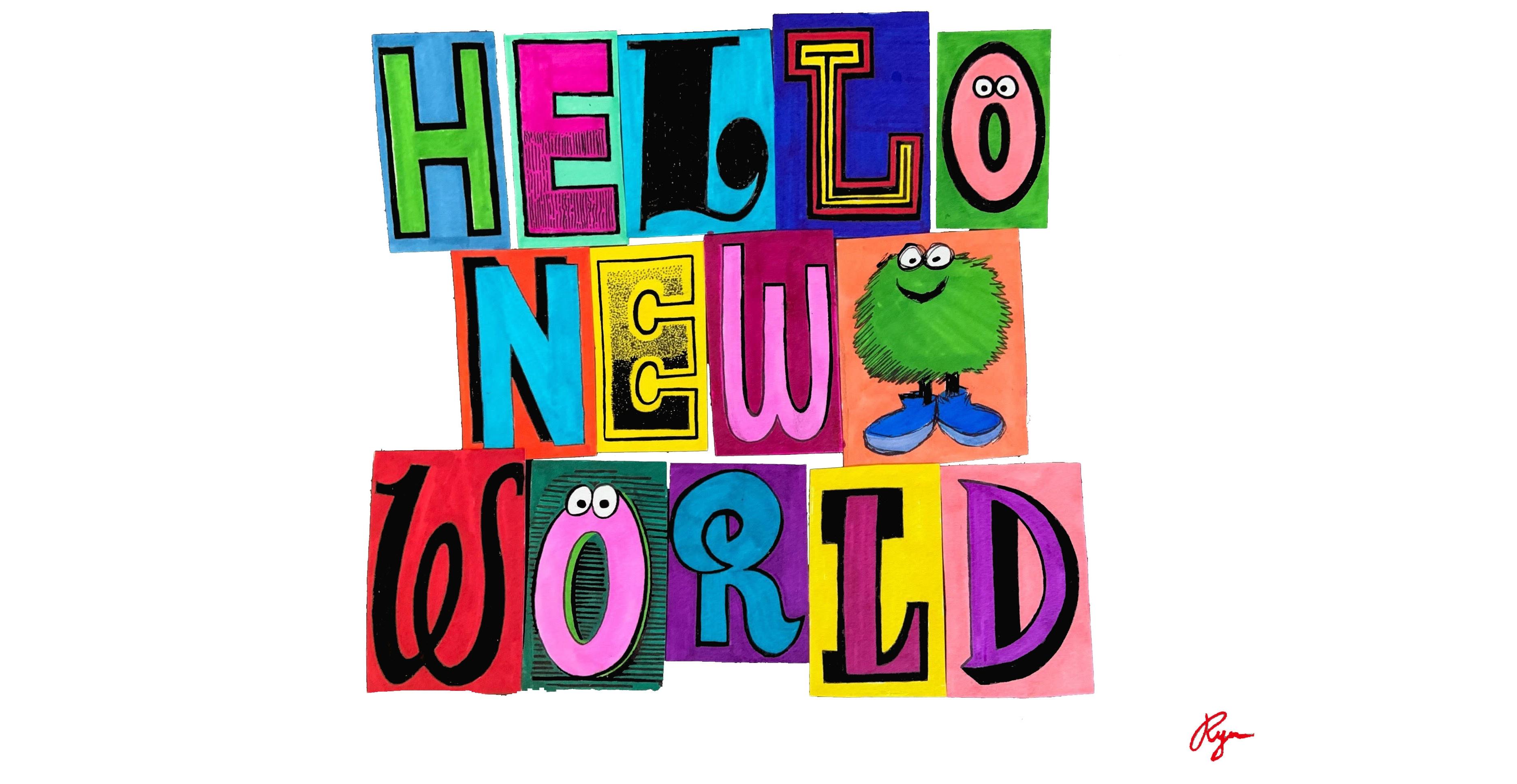 "Ryu Ambe Exhibition ""HELLO NEW WORLD""at ESTINATE HOTEL1"
