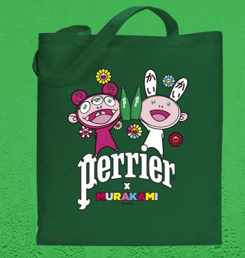 perrierxmurakami_tote_bag