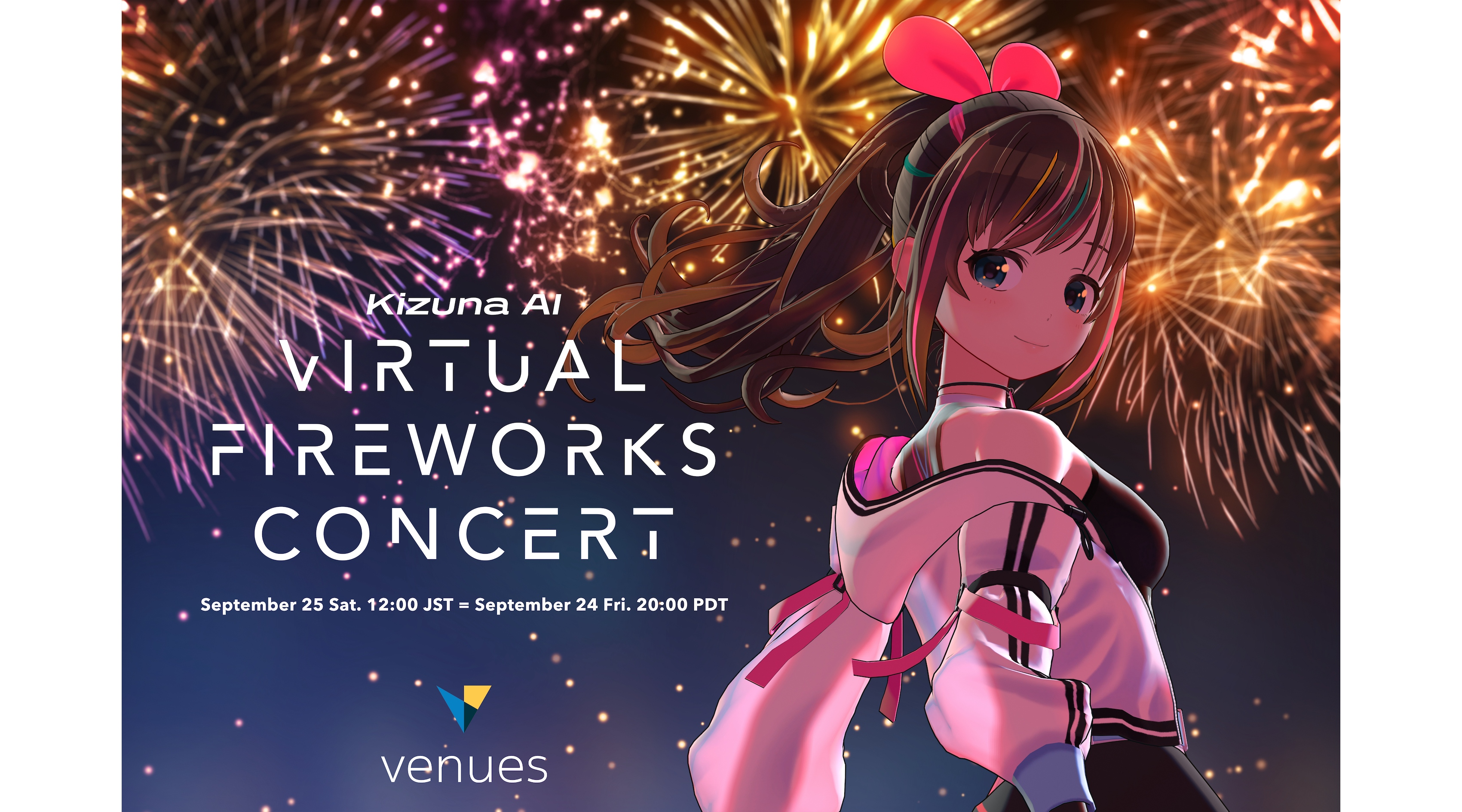 Kizuna AI Virtual Fireworks Concert1